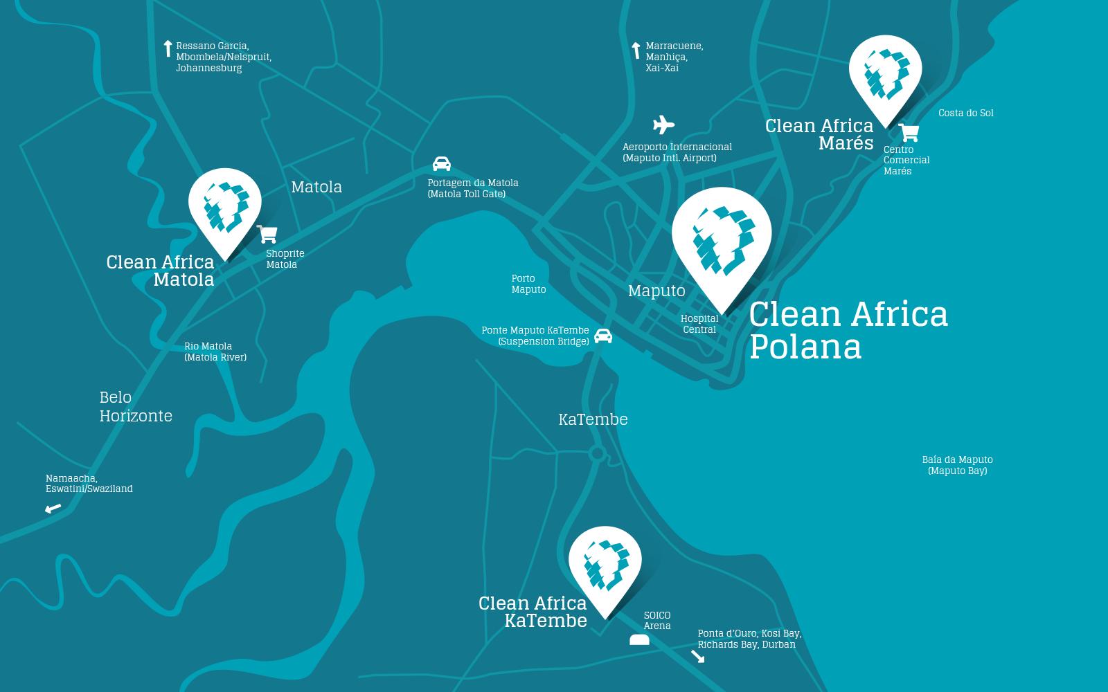 Clean Africa Localization Map